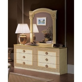 Luca Home Athena Double Dresser and Mirror Set