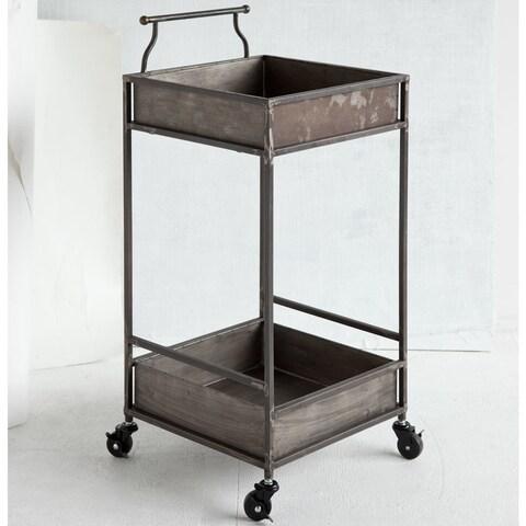 Mercana Greenock Grey Metal Bar Cart