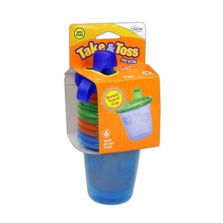 The First Years Blue Take and Toss 7-ounce Spill Proof Cups