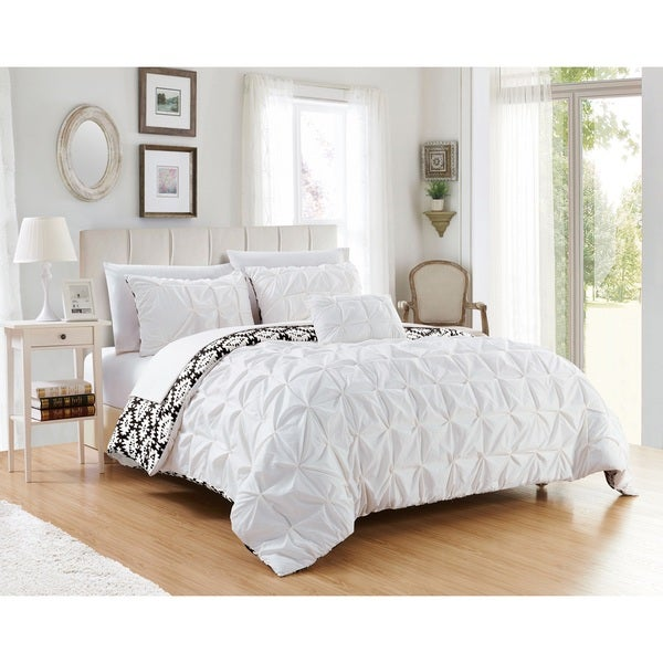 Chic Home Jana 4-piece Reversible Duvet Cover Set