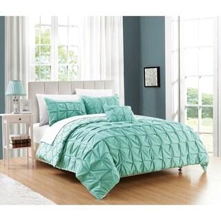 Chic Home Jana 8-Piece Complete Bed in a Bag Reversible Duvet Set, Aqua