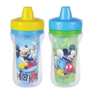 The First Years Mickey Mouse Clubhouse 9-ounce Insulated 9-ounce Sippy Cups (Pack of 2)
