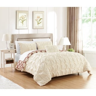Chic Home Jana 8-Piece Complete Bed in a Bag Reversible Duvet Set, Cream