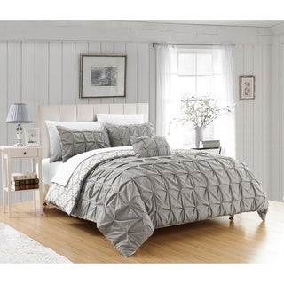 Chic Home Jana 8-Piece Bed in a Bag Reversible Duvet Set, Grey
