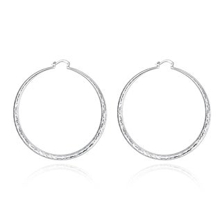 Hakbaho Jewelry Sterling Silver Large Gap Classic Hoops