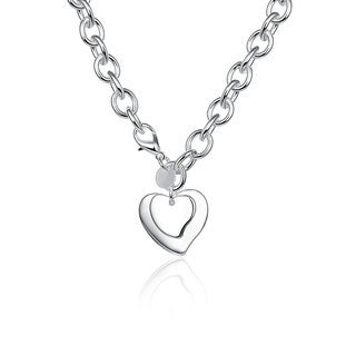 Hakbaho Jewelry  Sterling Silver Heart Pendant Drop Necklace