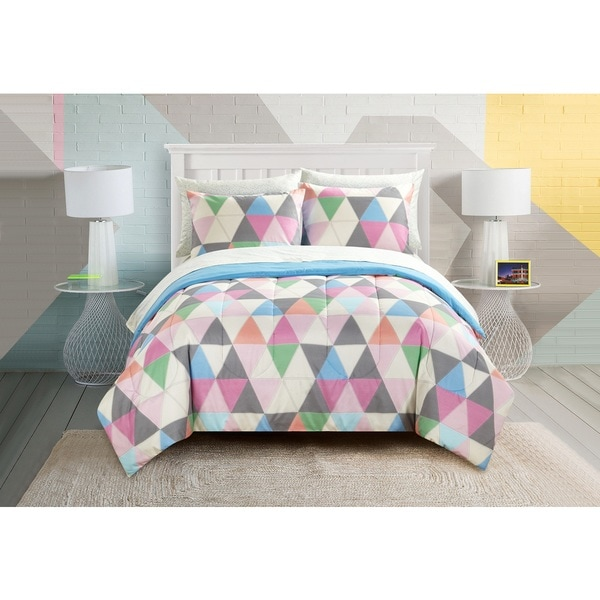 Pop Shop Color Triangles 7-piece Bed in a Bag Set