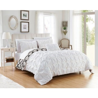 Chic Home Jana 8-piece Bed in a Bag Reversible White Duvet Cover Set