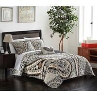 Chic Home Bellatrix 4-piece Beige Reversible Quilt Set with Decorative Pillow and Shams