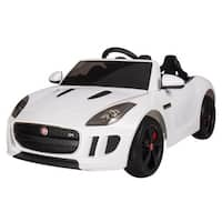 White 1:4 Jaguar F-Type Race Car