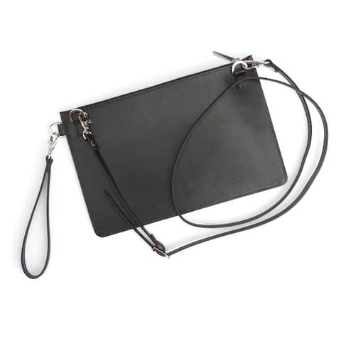 Royce Leather RFID Blocking Crossbody Handbag - 11.25 x 7.25 x 0.25