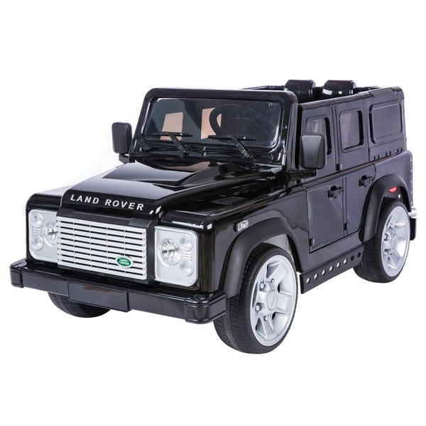 Shop Land Rover Defender Black Battery Operated SUV