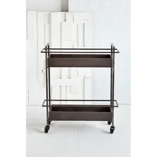 Mercana Masataka Grey Metal 4-wheeled Bar Cart