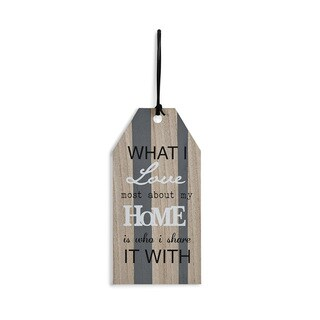 Danya B. inches widehat I Love Most About My Home Is Who I Share It With inches wideall Tag Plate