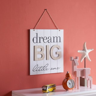 "Danya B. ""Dream Big Little One"" Wooden Wall Plaque"