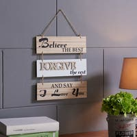 Danya B. Believe the Best, Forgive the Rest and Say I Love You Sectioned Wall Plaque