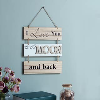 Danya B. 'I Love You to the Moon and Back' Sectioned Wooden Wall Plaque