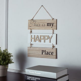 Danya B. This Is My Happy Place Sectioned Wooden Wall Plaque