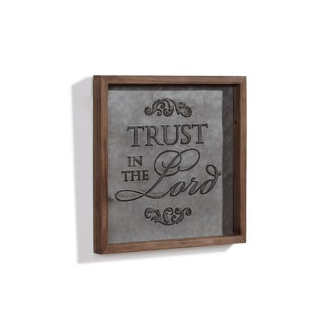 "Danya B. ""Trust in the Lord"" Framed Metal Art"