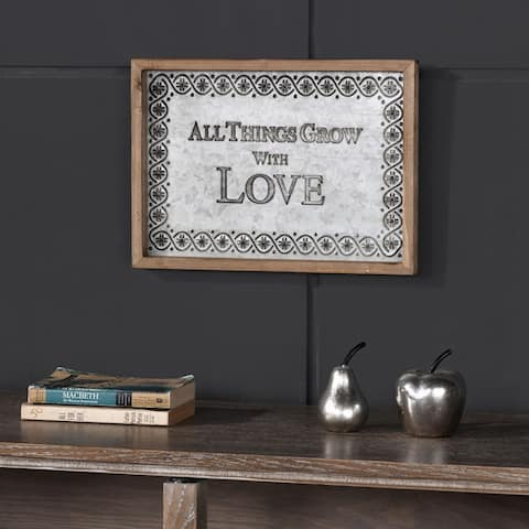 "Danya B. ""All Things Grow with Love"" Framed Metal Art"