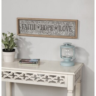 "Danya B. ""Faith-Hope-Love"" Framed Metal Art"