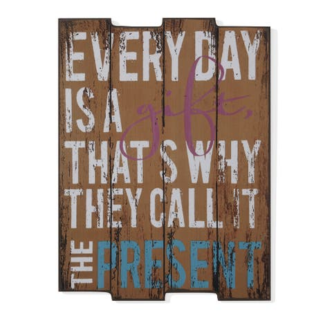 """Danya B. """"Every Day is a Gift"""" Wooden Wall Art"""