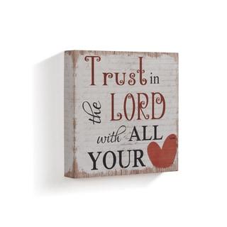 "Danya B. ""Trust in the Lord"" Wooden Wall Art"