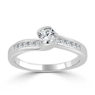 Auriya 14k Gold 1/2ct TDW Tension Diamond Engagement Ring