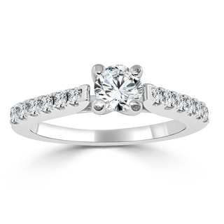 Auriya 14k Gold 3/4ct TDW Round Diamond Engagement Ring