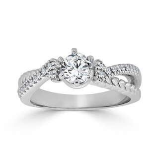 Auriya 14k Gold 1/2ct TDW Diamond Engagement Ring