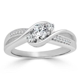 Auriya 14k Gold 1/2ct TDW Round Diamond Engagement Ring