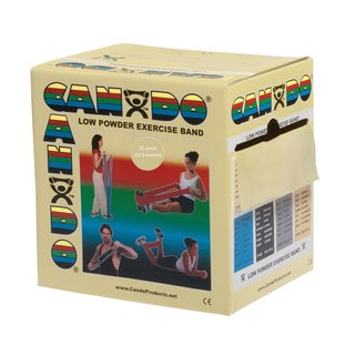 CanDo® Low Powder Exercise Band: 25 yard Roll