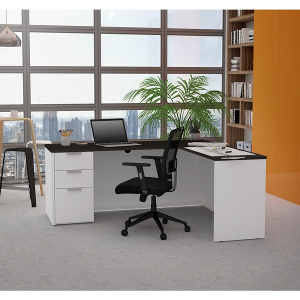 Bestar pro concept plus l desk free shipping today - Office professional plus components ...