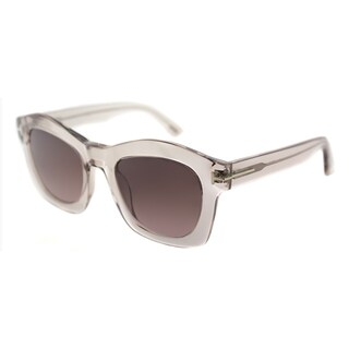 Tom Ford Women's TF 431 74S Transparent Pink Frame and Brown Gradient Lens Fashion Sunglasses