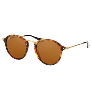 c864b43f6f5 Ray-Ban Round RB 2447 1160 Unisex Spotted Brown Havana Frame Brown Lens  Sunglasses