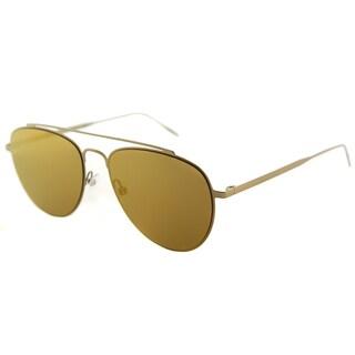 Tomas Maier Aviator Unisex Gold Frame Gold Mirror Lens Sunglasses