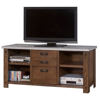 Pasqual Brown Wood TV Stand
