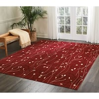 Nourison Grafix Floral Vines Red Area Rug - 5'3 x 7'3
