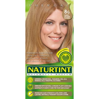 Naturtint Permanent Hair Colorant 8G Sandy Golden Blonde