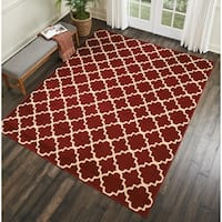 Nourison Grafix Contemporary Red Area Rug - 7'10 x 9'10