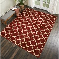 Nourison Grafix Red Trellis Area Rug - 7'10 x 9'10