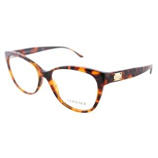 Versace Women's VE 3193 5074 Havana Cat-eye Frame Eyeglasses