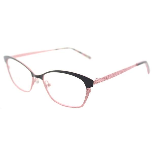 Shop Lafont Lf Veronique Black Pink Metal 51 Millimeter