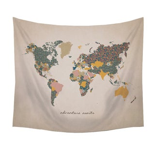 Stratton Home Decor Adventure Awaits Map Wall Tapestry