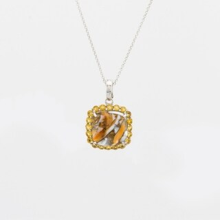 Pangea Mines Spiny Oyster and Citrine Pendant