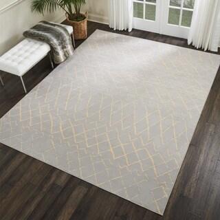 Nourison Grafix Contemporary Grey Area Rug (7'10 X 9'10)