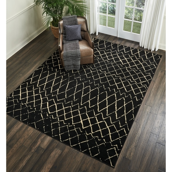 Shop Nourison Grafix Black Moroccan Area Rug On Sale