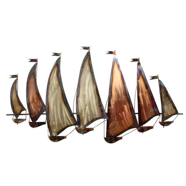 Shop Stratton Home Decor Sunset Sailboat Metal Wall Decor - Free ...