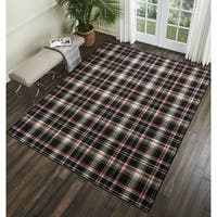 Nourison Grafix Plaid Area Rug