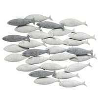 Stratton Home Decor Grey School of fish Wall Decor